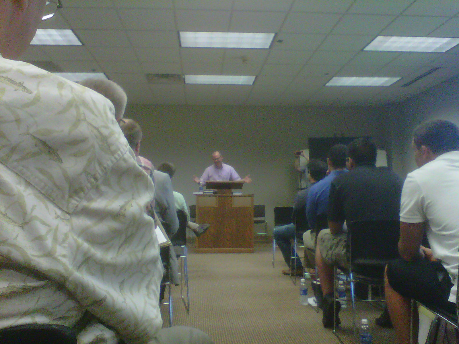Rev. Andrea Ferrari (Milan, Italy) addressing the URC Missions Conference.
