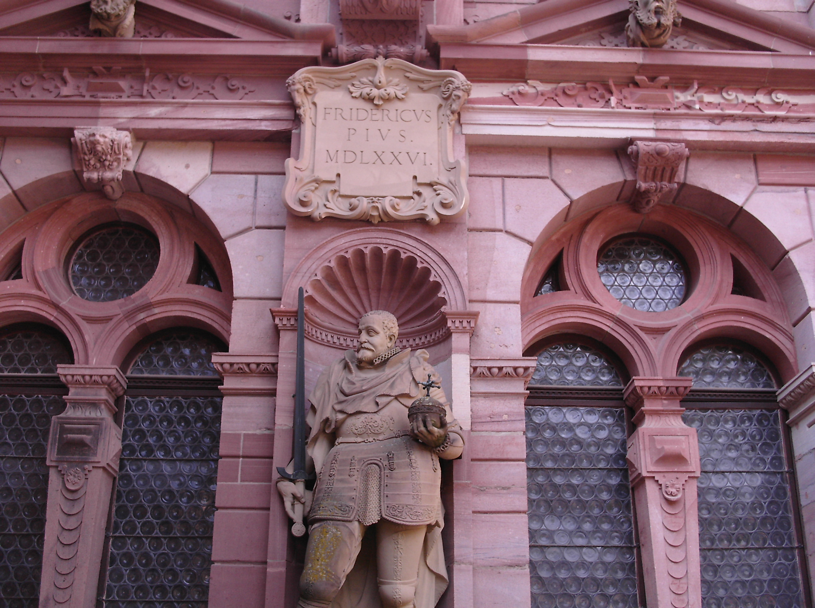 Statue of Elector Frederick III (aka Frederick the Pious) at Heidelberg Castle