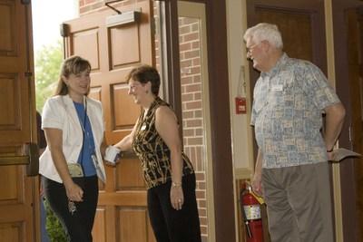 friendly church greeters